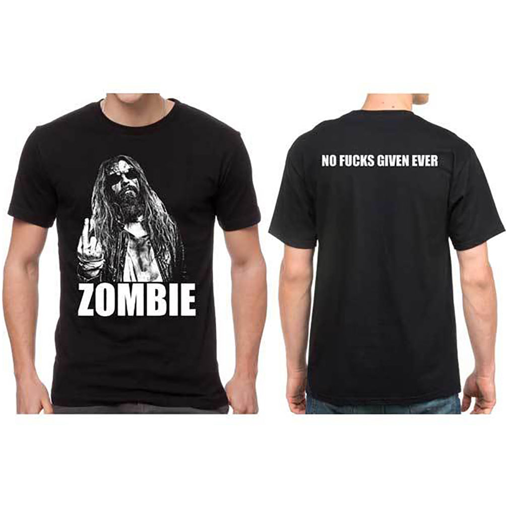 Rob Zombie: No Fcks Given Shirt - Black
