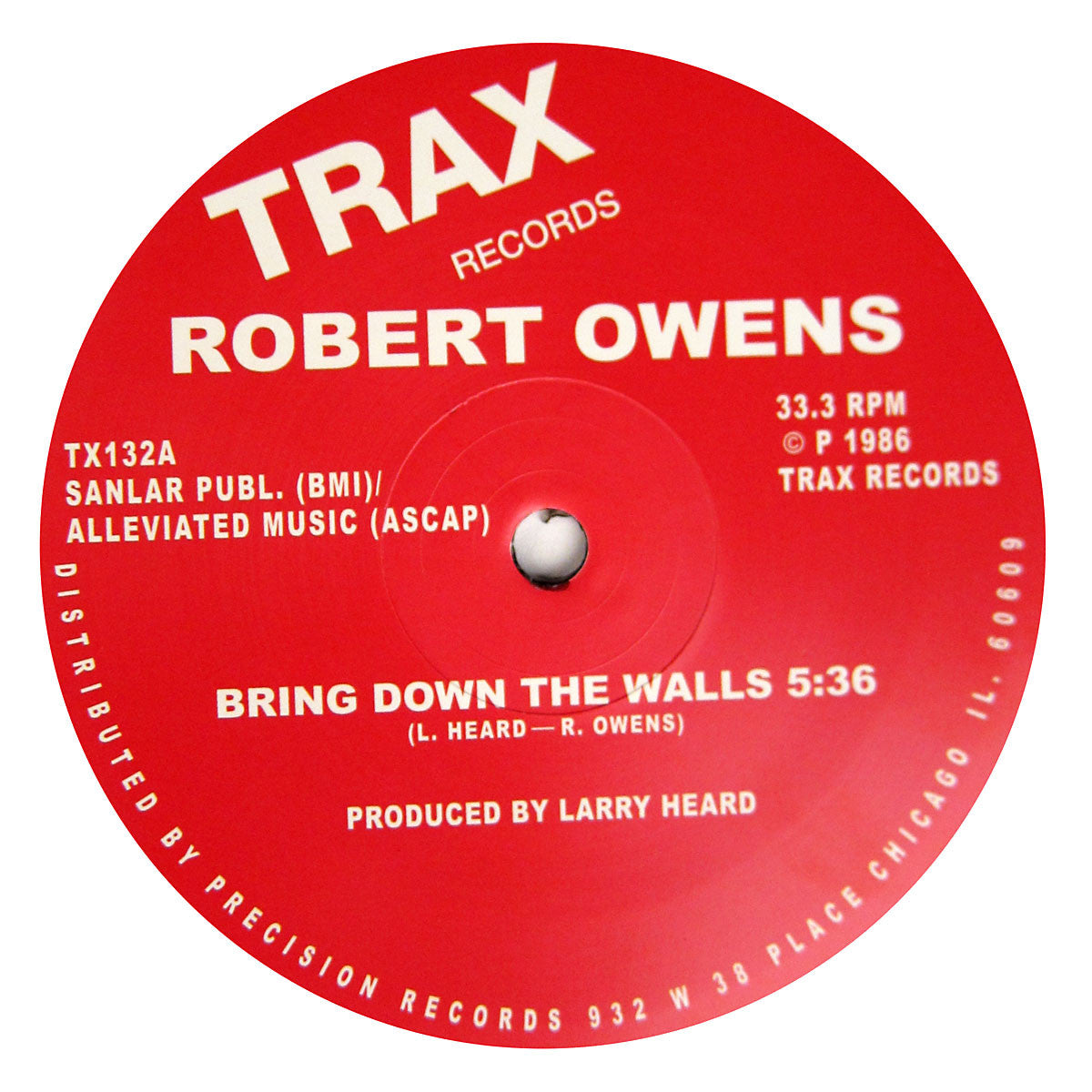 Robert Owens: Bring Down The Walls Vinyl 12""
