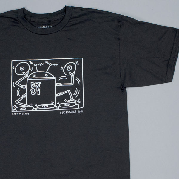 Turntable Lab: Keith Haring Robot DJ Shirt - Black