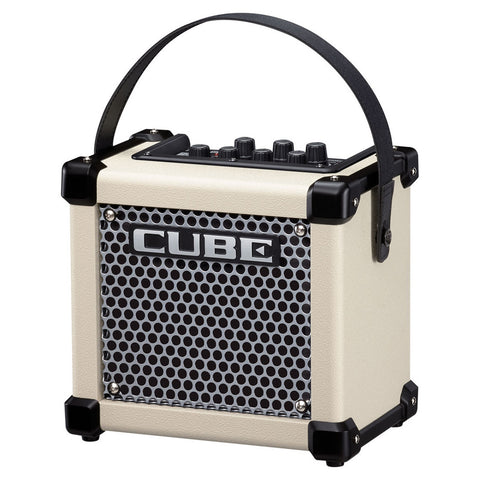 Roland: Micro Cube GX 3-Watt Black Battery Powered Guitar Amp - White