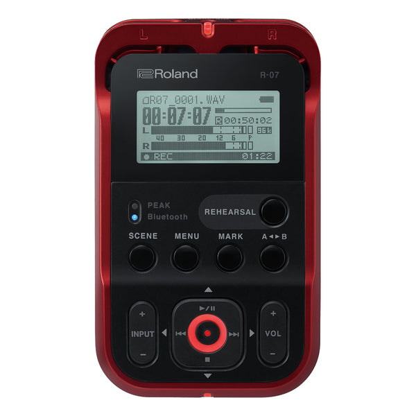 Roland: R-07-RD High-Resolution Portable Audio Recorder - Red