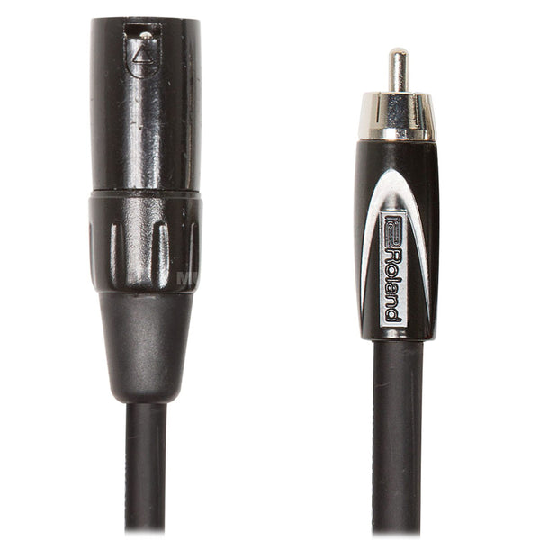 Roland: Black Series Cable - XLR male to RCA / 10 ft. (RCC-10-RCXM)