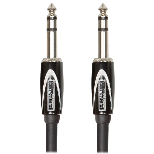 "Roland: Black Series Cable - 1/4"" TRS / 10 ft. (RCC-10-TRTR)"