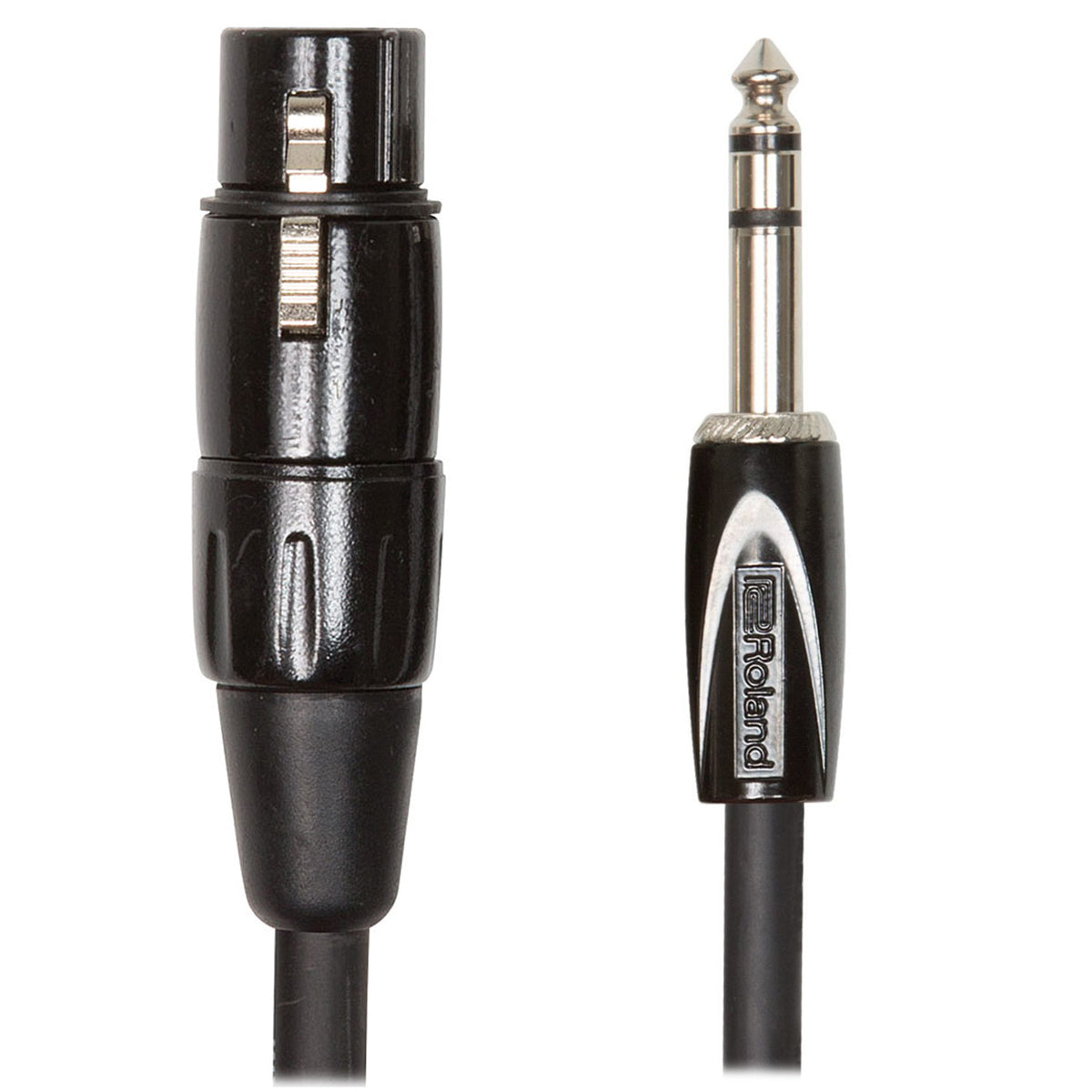 "Roland: Black Series Cable - 1/4"" TRS to XLR female / 10 ft. (RCC-10-TRXF)"