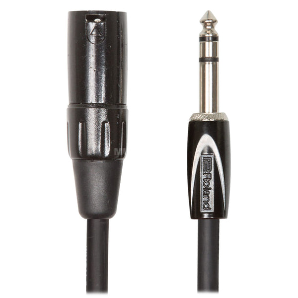 "Roland: Black Series Cable - 1/4"" TRS to XLR male / 10 ft. (RCC-10-TRXM)"