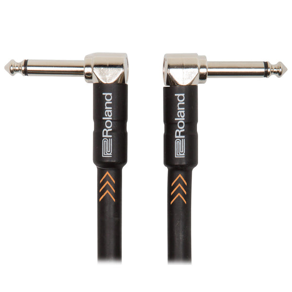 "Roland: Black Series Cable - 1/4"" Angled / 3 ft. (RIC-B3AA)"