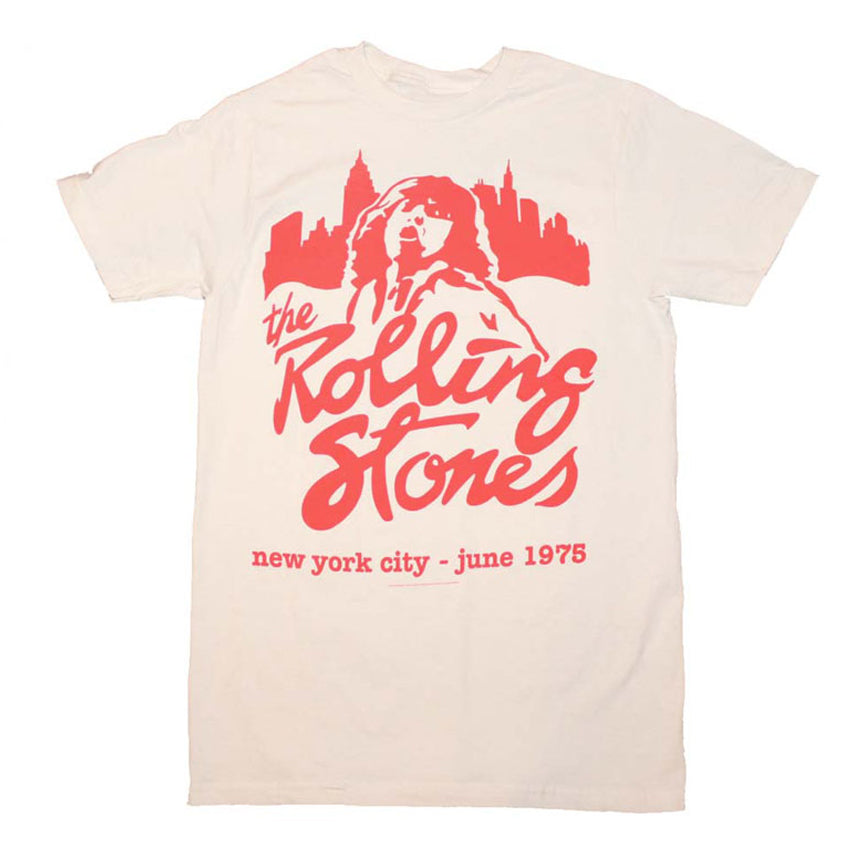 The Rolling Stones: Mick June 1975 Shirt - White