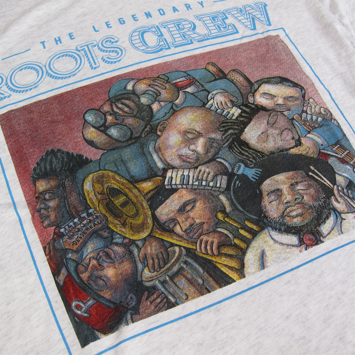The Roots: Legendary Roots Crew Shirt - Heather Grey detail