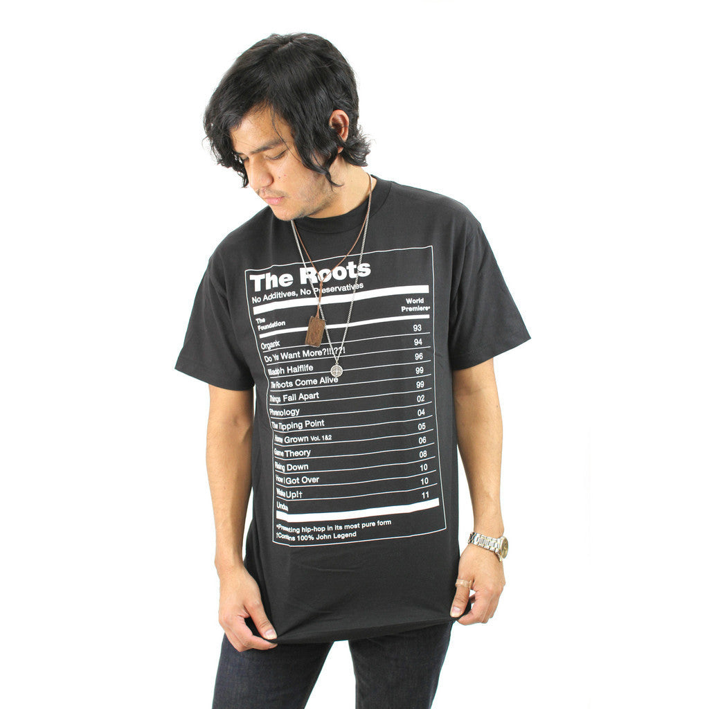 The Roots: No Preservatives Shirt - Black model