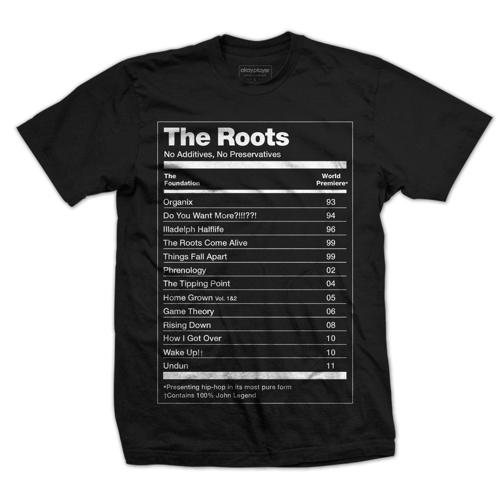 The Roots: No Preservatives Shirt - Black