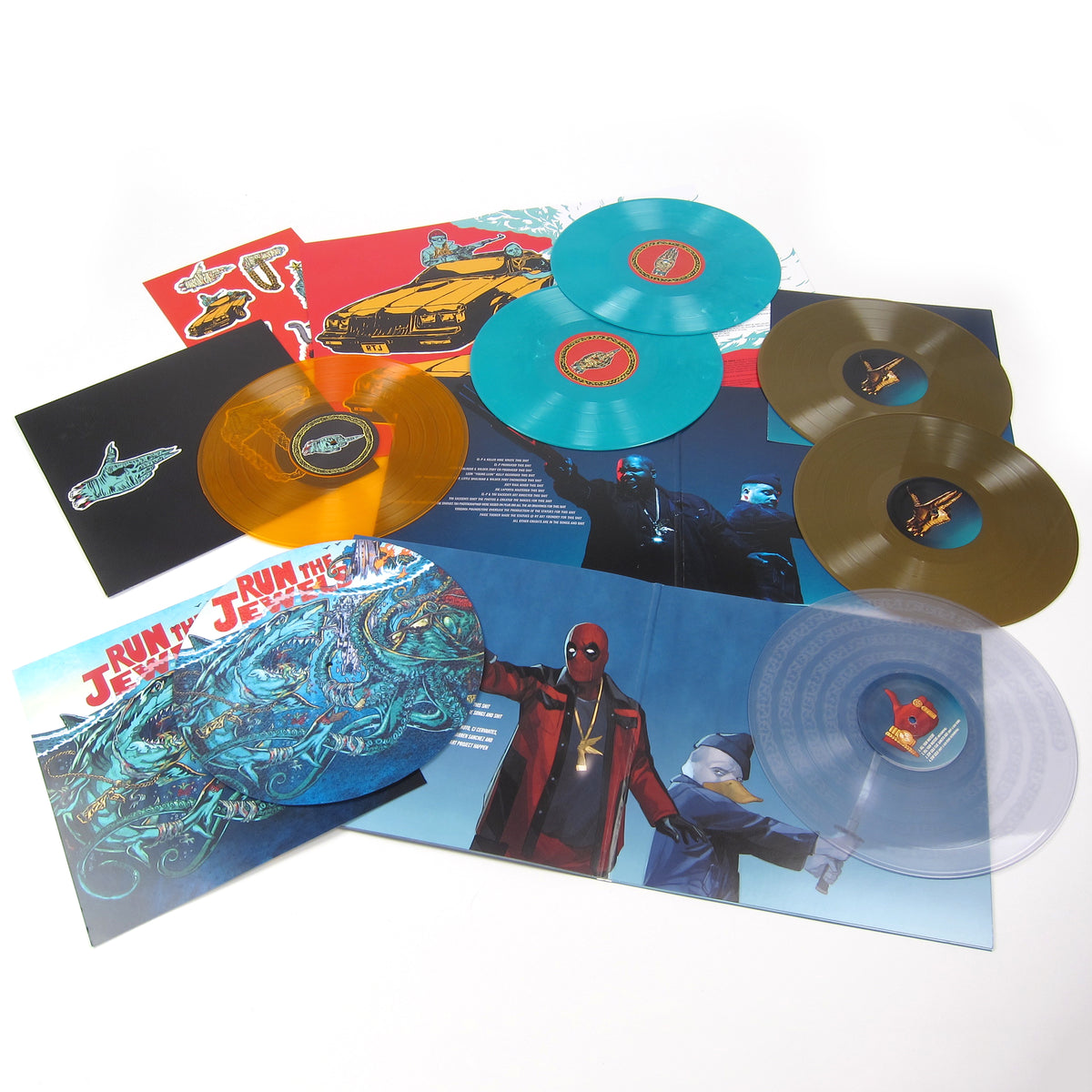 Run The Jewels: Vinyl LP Album Boxset (RTJ 1, 2, 3 + Stay Gold Jewel Box)