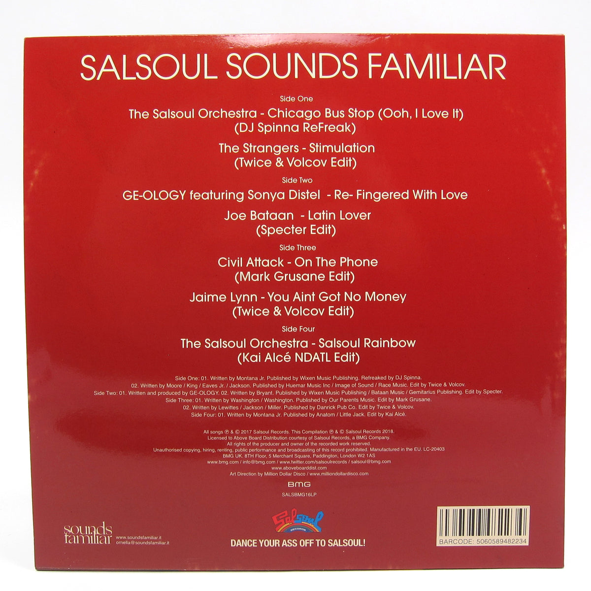 Salsoul Records: Salsoul Sounds Familiar (Re-Edits, Remixes And Remakes From The Sounds Familiar Crew) Vinyl 2LP