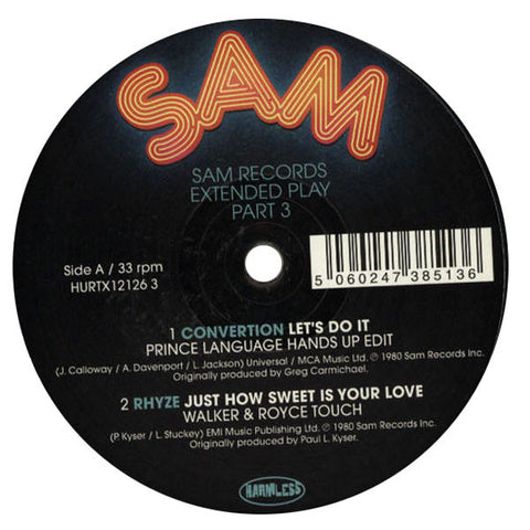 Sam Records: Extended Play Pt. 3 (Catz N Dogz, Prince Language, Runaway) 12""
