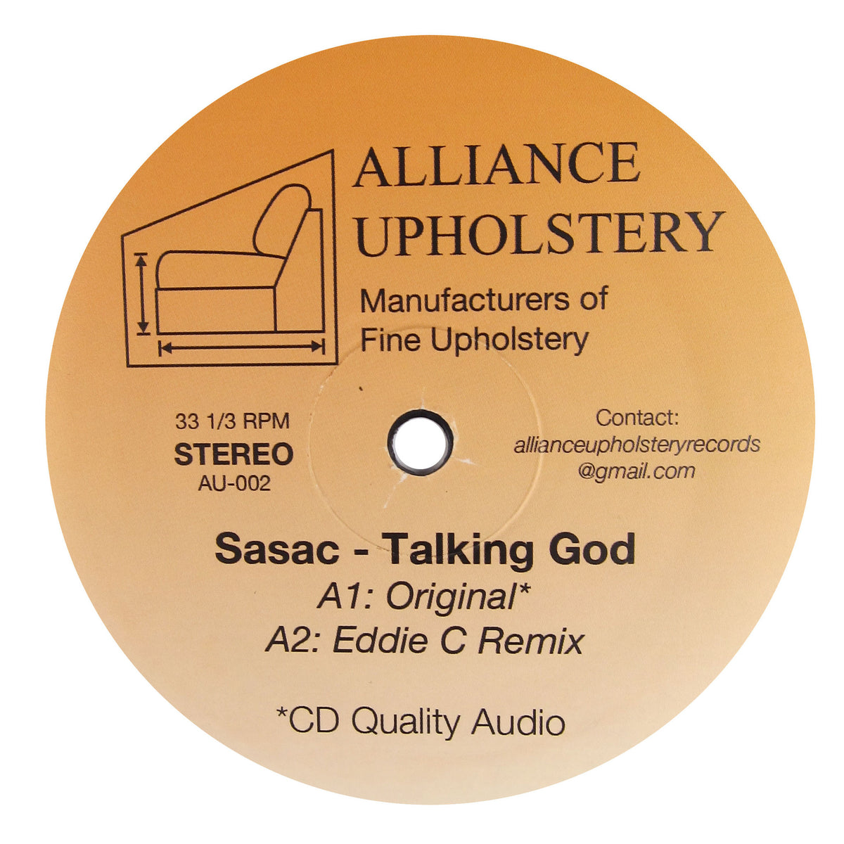 Sasac: Talking God Preview (Eddie C, Benedek, Alex Israel) Vinyl 12""