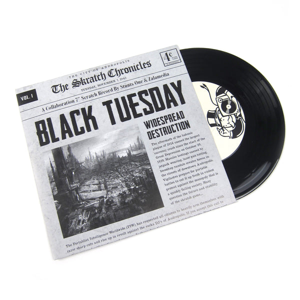 Stunts One & Zalamedia: The Skratch Chronicles - Black Tuesday Vinyl 7""