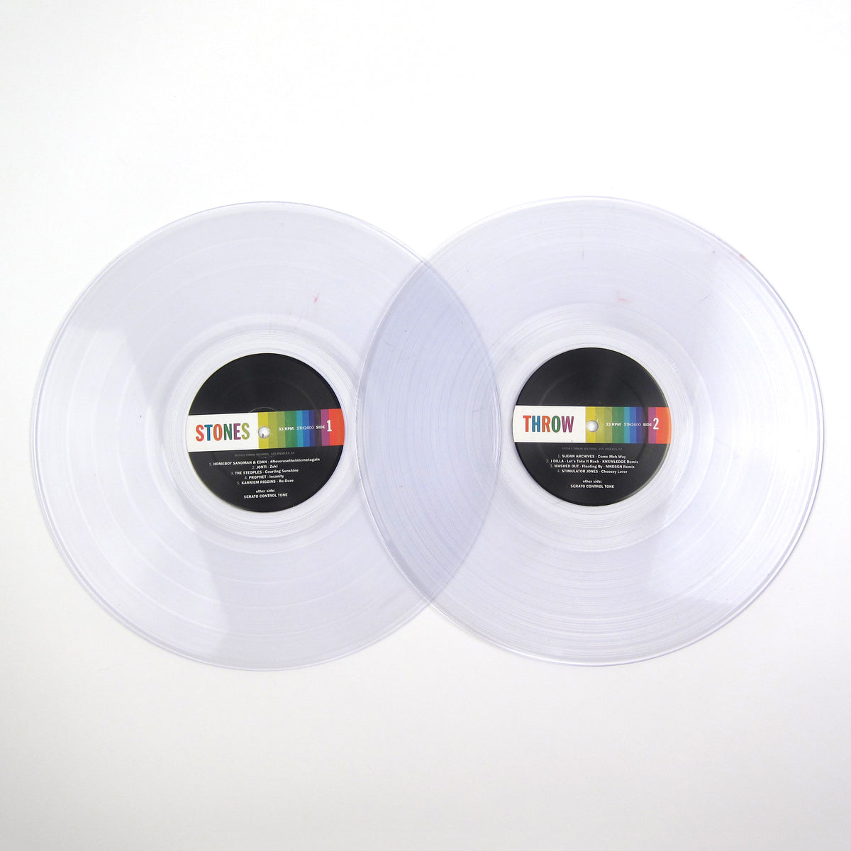 Serato: Serato x Stones Throw (Serato Control Vinyl, Colored Vinyl) Vinyl 2LP+Slipmats