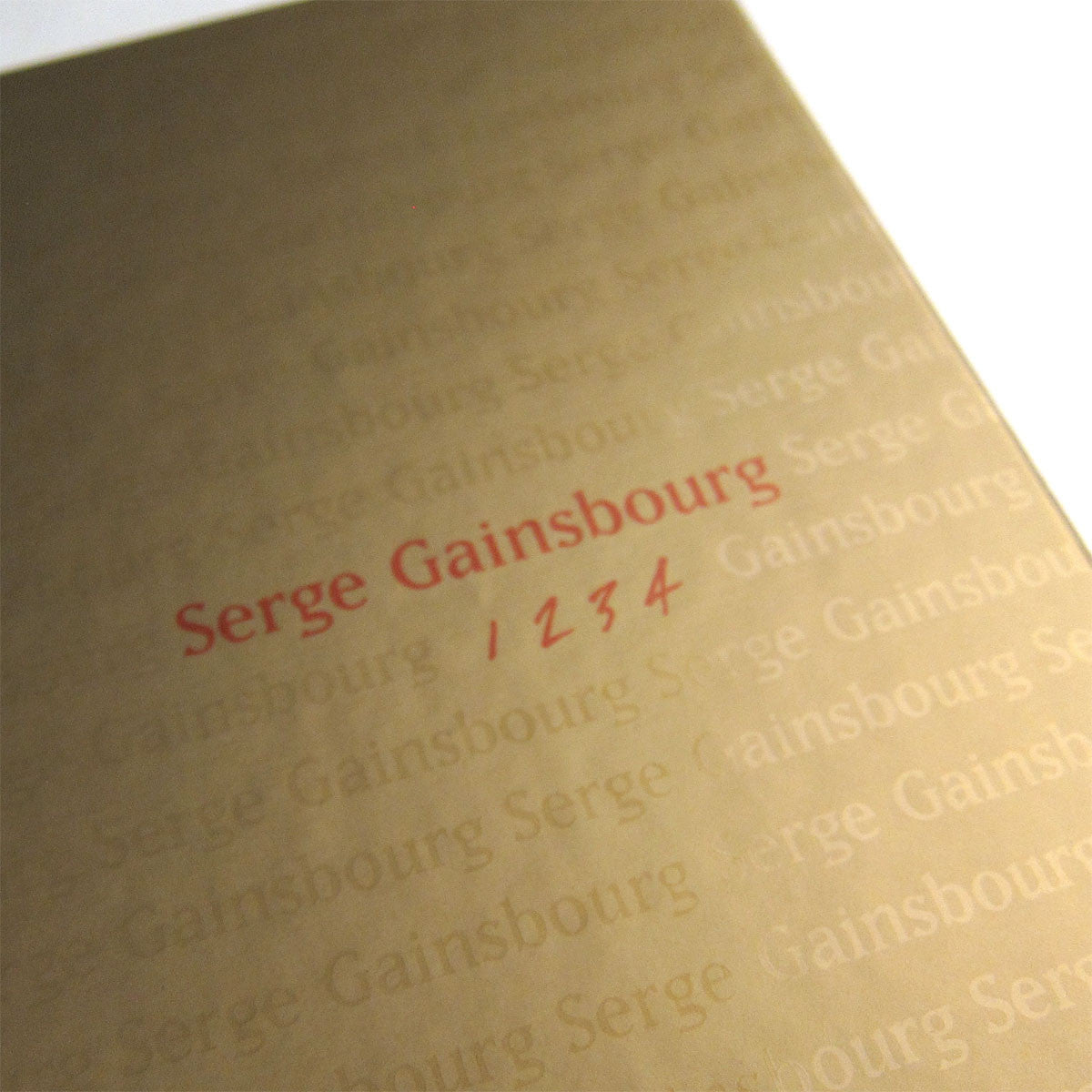 Serge Gainsbourg: 1 2 3 4  (Colored Vinyl) Vinyl Boxset 2LP close up