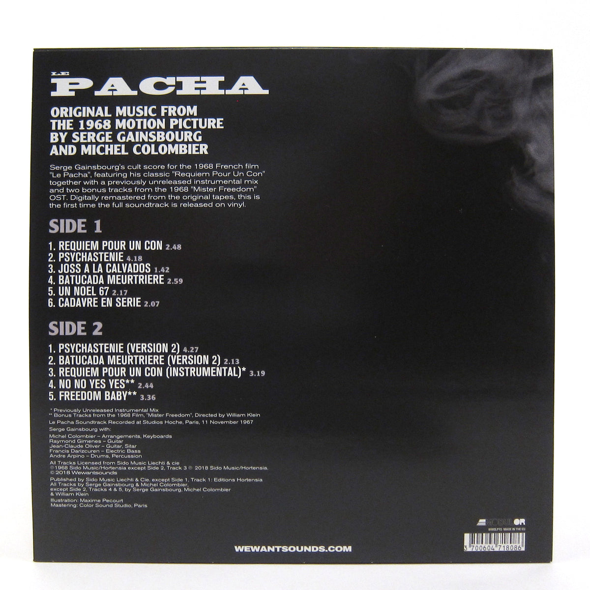 Serge Gainsbourg & Michel Colombier: Le Pacha Soundtrack Vinyl LP