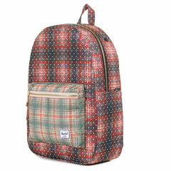 Herschel Supply Co.: Settlement Backpack - Rust Plaid Polka Dot / Grey Plaid