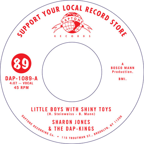 "Sharon Jones & The Dap-Kings: Little Boys With Shiny Toys Vinyl 7"" (Record Store Day)"