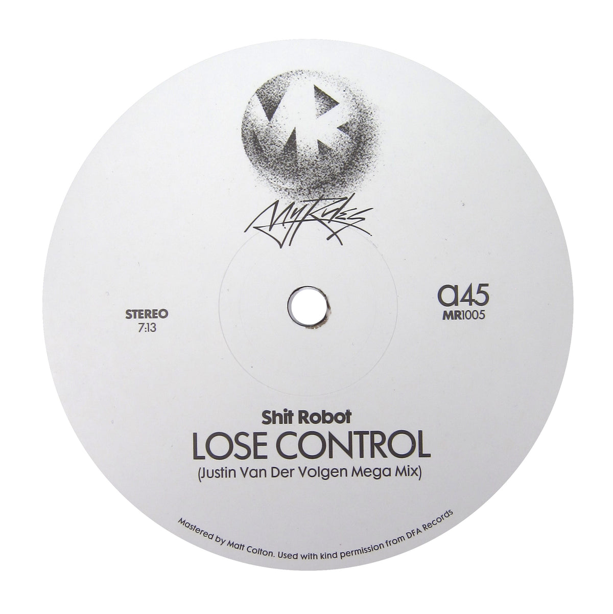 Shit Robot / Felix Dickinson: Lose Control / Burning Flame (Justin Van Der Volgen Remixes) Vinyl 12""