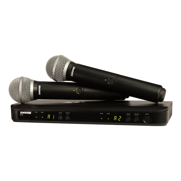 Shure: BLX288 / PG58-J10 Wireless Vocal Combo w/ PG58 Handheld Microphones