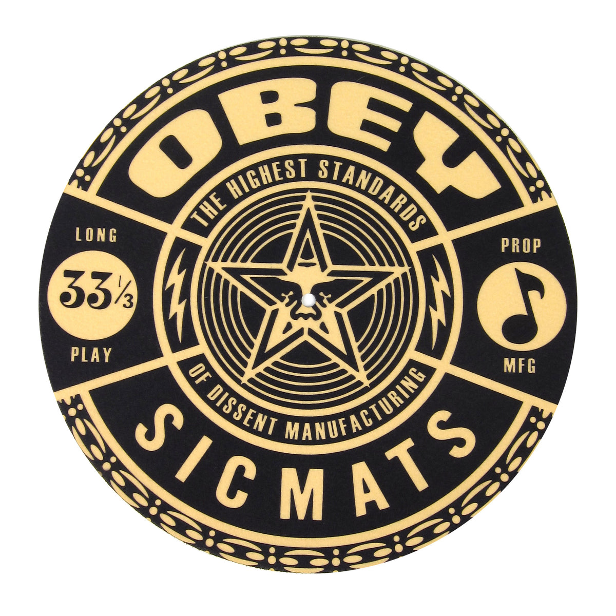 Sicmats: Obey Slipmats (Pair) - Black / Tan