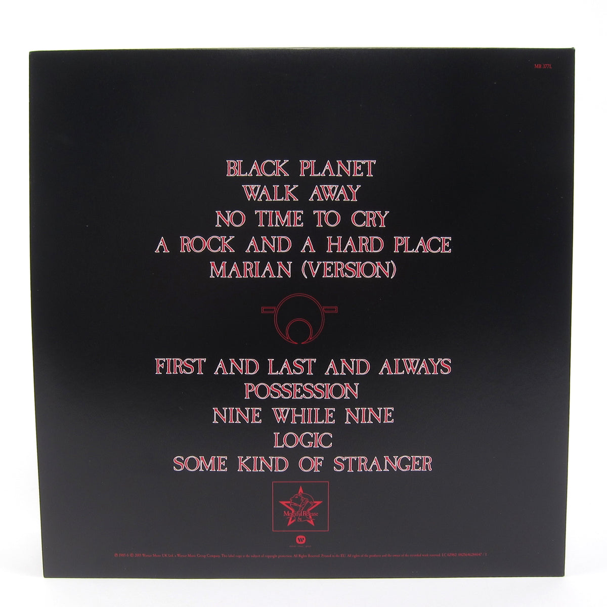 The Sisters Of Mercy: First and Last and Always (RSC Indie Exclusive) Vinyl LP