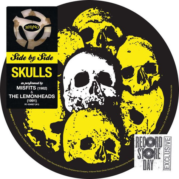 Misfits / The Lemonheads: Side By Side: Skulls Pic Disc 7""