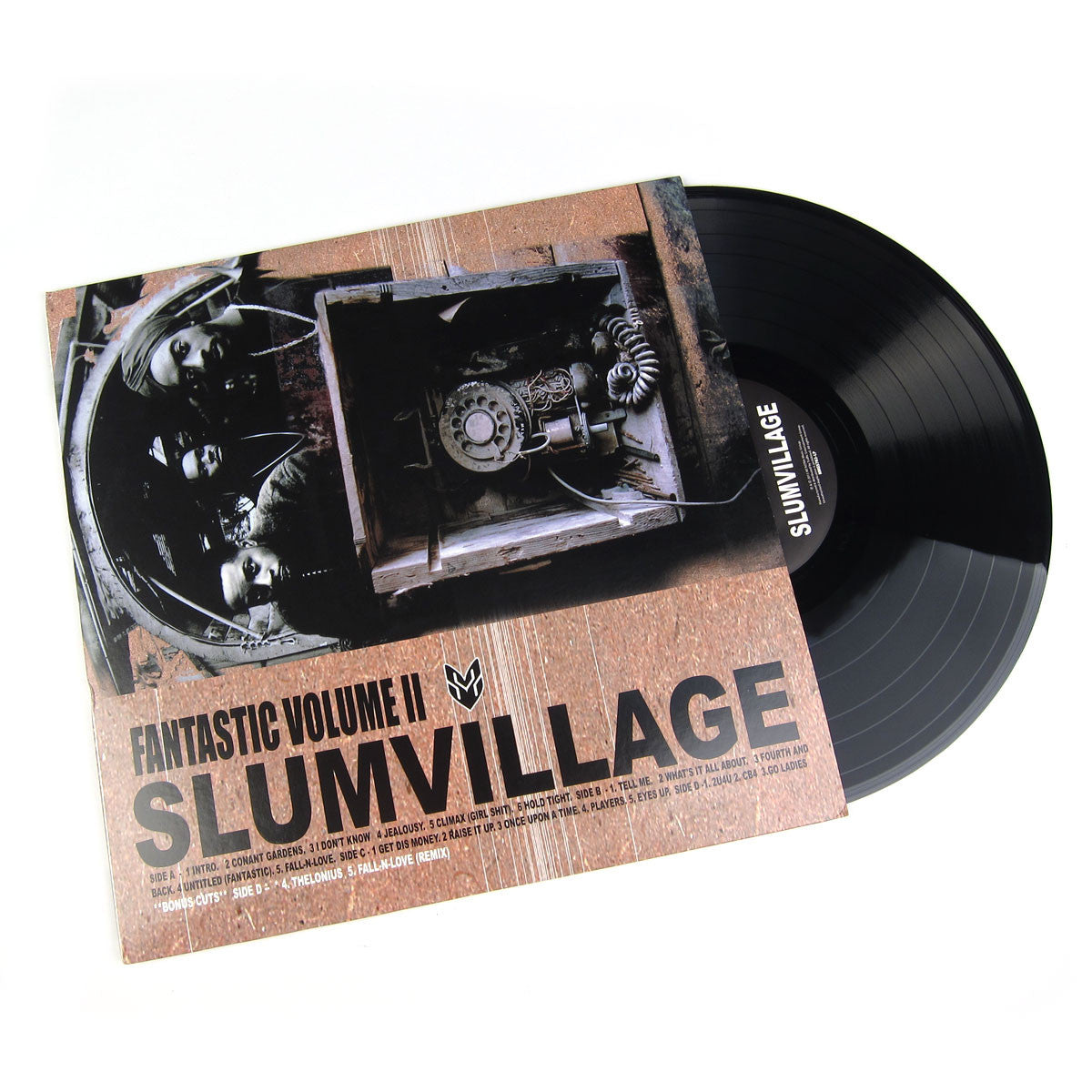 "So much drama surrounded Slum Village's debut album: first they were dropped from Interscope, then Vol. 2 was released as a Euro import/boot, then they were picked up by Goodvibe, which put it out officially but later folded. The music was no less controversial - Swizz Beats keyboards were the rule and heads weren't ready for the loose, soulful beats and lazy rhyme styles. Jay Dee is an undeniably brilliant producer, and heat rises - Fantastic Vol. 2 is now widely regarded as a cornerstone of the Soulquarian sound. Okay, I'll admit Muhammed Baatin and T3 aren't my favorite rappers, but they do have a certain unique charm and they're pretty clever writers. And with a good range of styles and collabos with Pete Rock, Jazzy Jeff, Q Tip, D'Angelo, Busta and Kurupt the LP stays fresh to the end. ""Players"" is the catchy sleeper hit, with its beautifully layered singing melody, claps and subdued rhymes. On ""Hold Tight"" Q Tip says ""This is the last time you'll hear me ... I'ma leave it in the hands of the Slum now."" If only it were so. ""Tell Me"" features keyboards and singing by D'Angelo to get the panties wet. ""I Don't Know"" incorporates James Brown adlibs all through the verses and scratches by Jazzy Jeff. Pete Rock helps out with beats, verses and scratches on ""Once Upon a Time."" With 15 more tracks including ""Fall in Love"" and ""Raise it Up."" Double vinyl version with pic sleeve.  music label: Wordplay Records 2000 / Ne'Astra Music Group 2015 reviewed by ayres 08/2005"