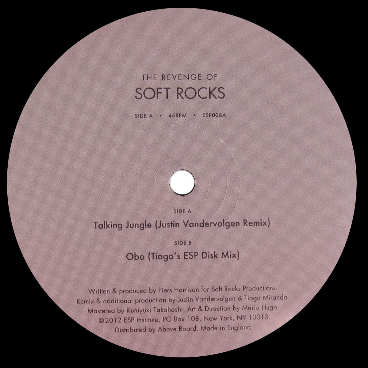 Soft Rocks: Talking Jungle / Obo 12""