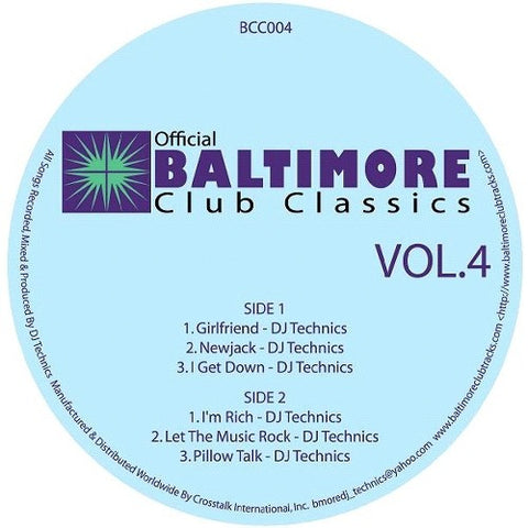 DJ Technics: Baltimore Club Classics, Vol.4 EP