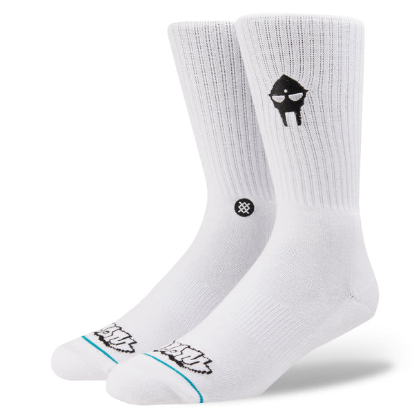 Stance: MF Doom Embroidered Socks - White