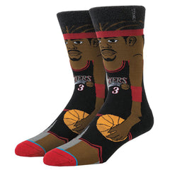 Stance: Iverson Cartoon Sock - Black