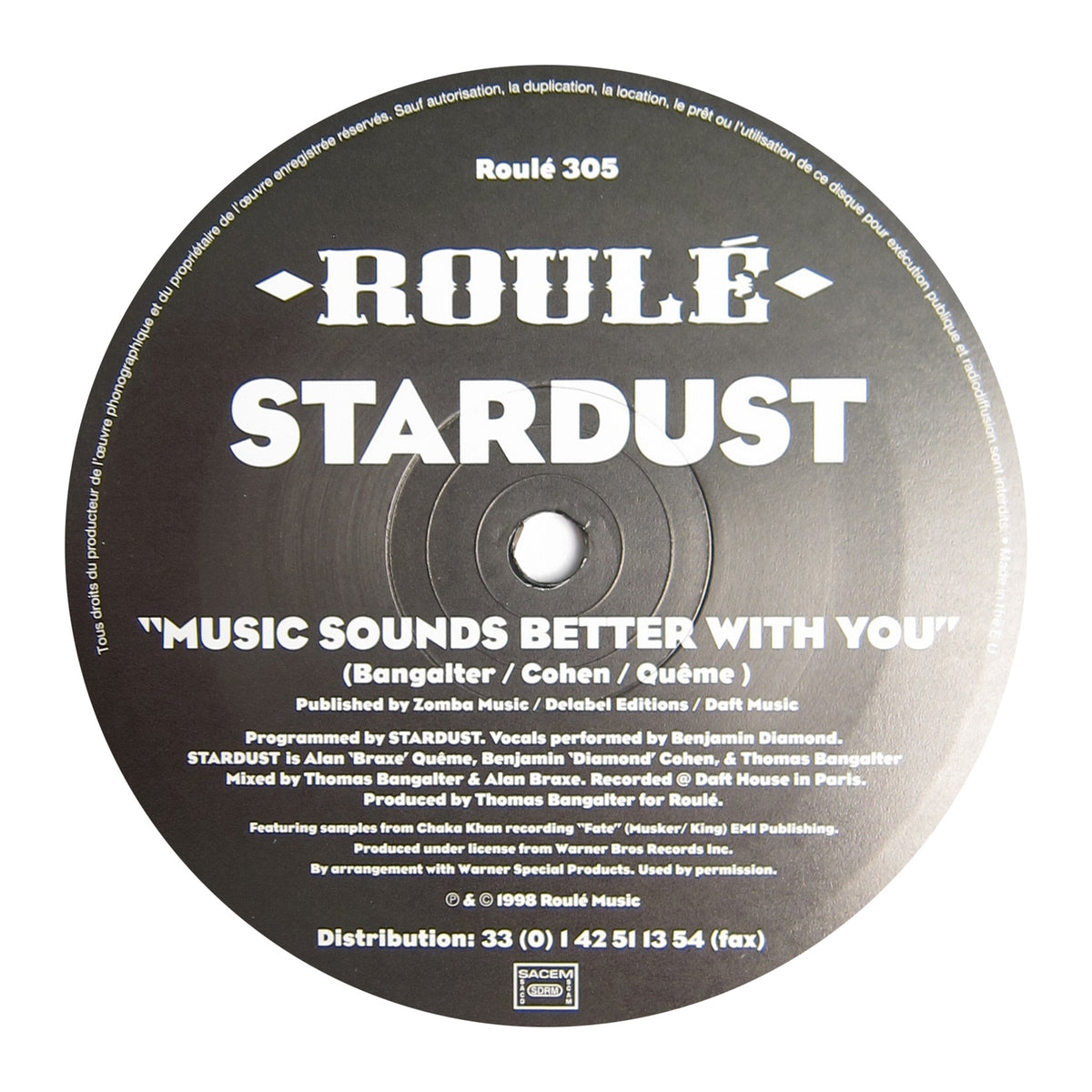 Stardust: Music Sounds Better With You (Daft Punk) Vinyl 12""