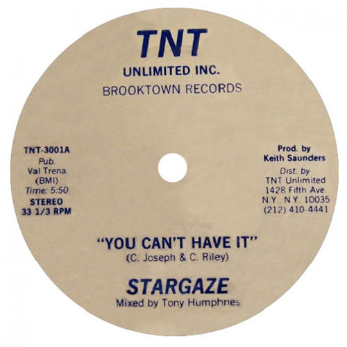 Stargaze: You Can't Have It 12""