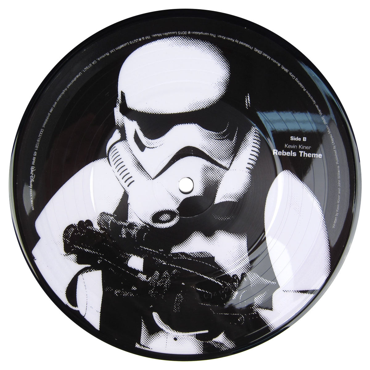 Kevin Kiner: Star Wars Rebel's Theme (Flux Pavillion Remix) Pic Disc Vinyl 7""