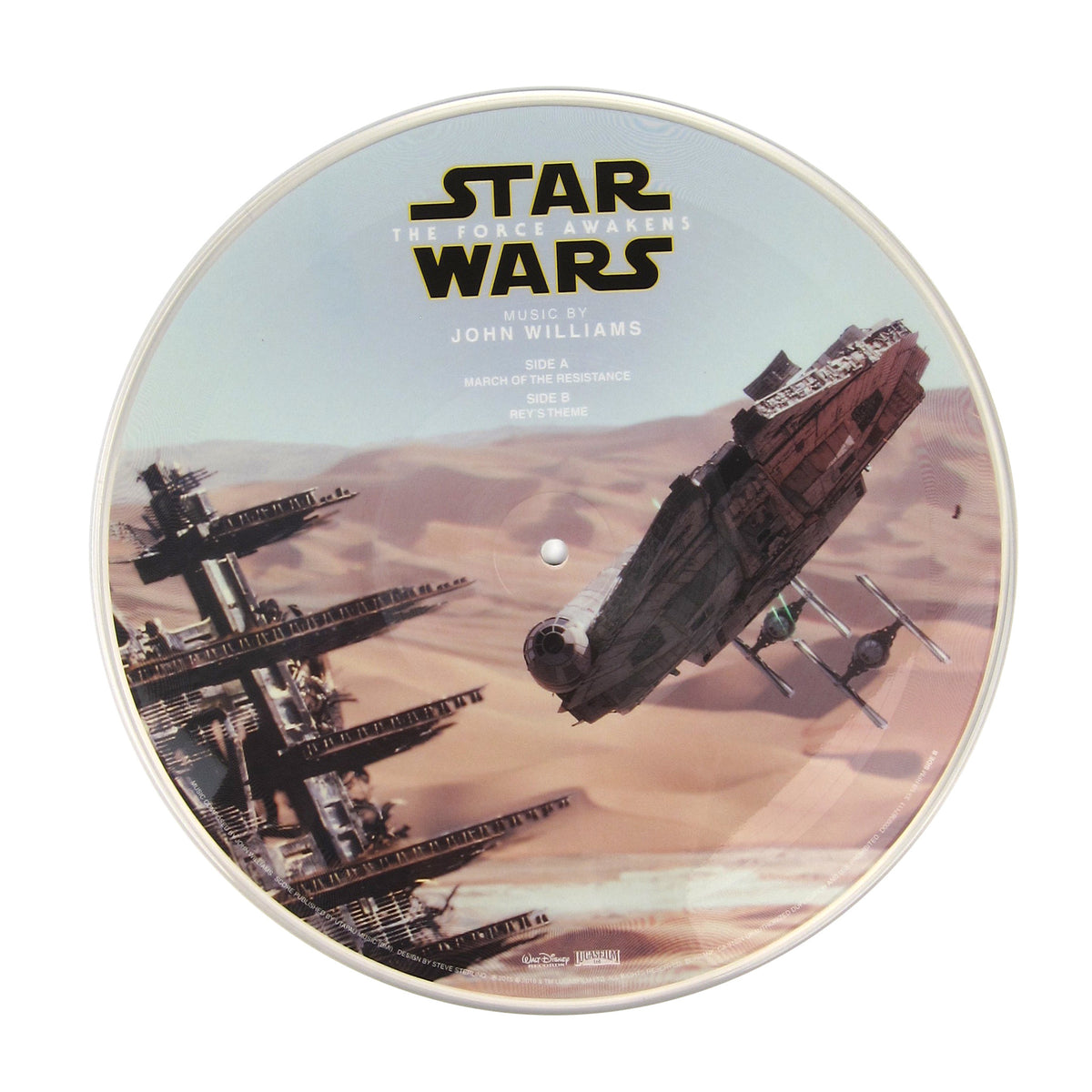 "John Williams: Star Wars The Force Awakens - March Of The Resistance / Rey's Theme (Pic Disc) Vinyl 10"" (Record Store Day) bside"