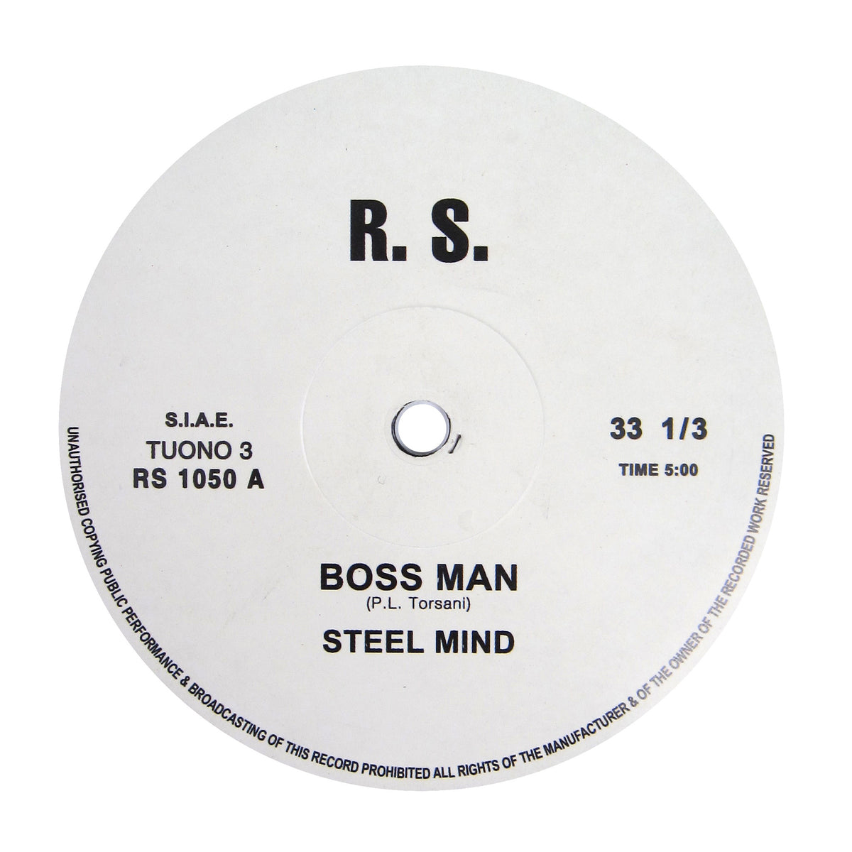Steel Mind: Boss Man Vinyl 12""