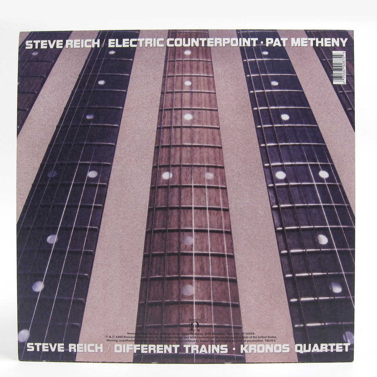 Steve Reich: Different Trains / Electric Counterpoint (Kronos Quartet, Pat Metheny) Vinyl LP