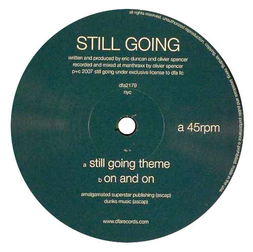 Still Going : Still Going Theme (Rub-N-Tug) 12""