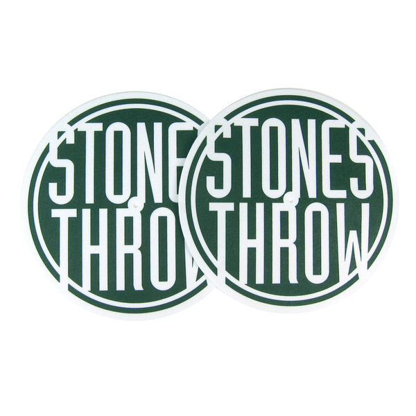 Stones Throw: Logo Slipmats - Green (Pair)