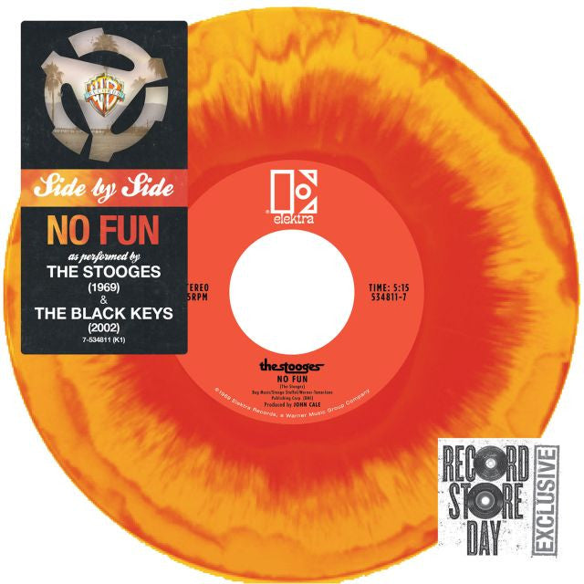 The Stooges / The Black Keys: Side By Side: No Fun (Colored Vinyl) 7""