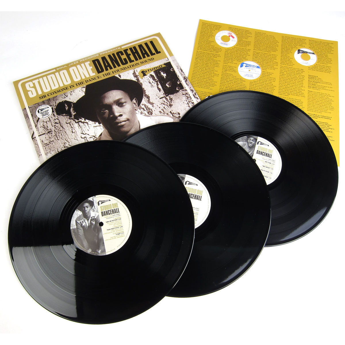 Soul Jazz: Studio One Dancehall - Sir Coxsone In The Dance The Foundation Sound (Limited Edition, Free MP3) Vinyl 3LP detail