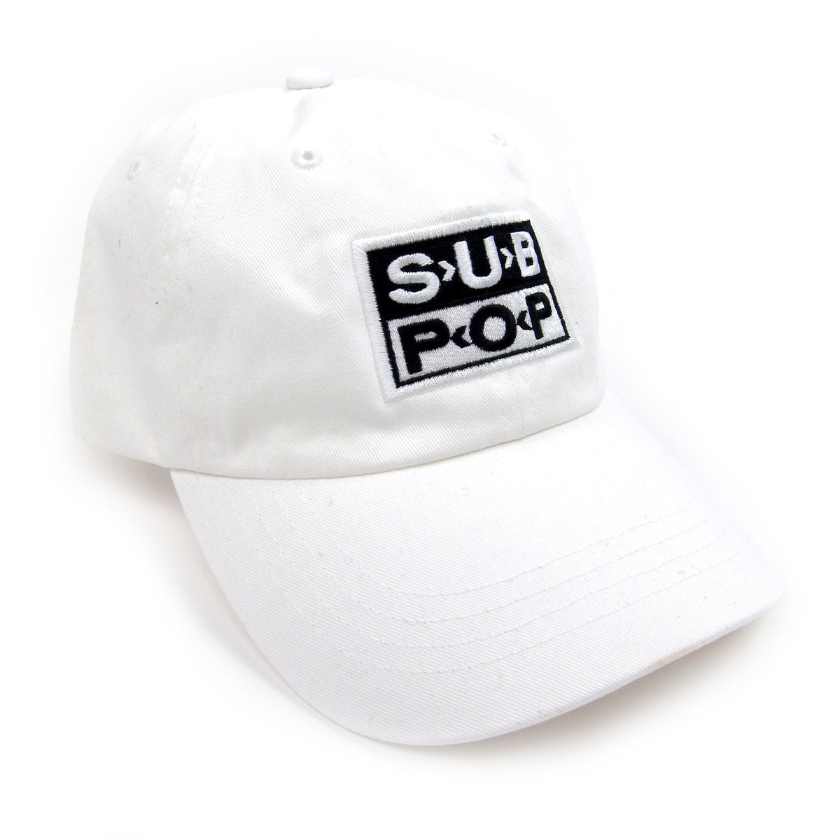 Sub Pop Records: Low Profile Logo Hat - White