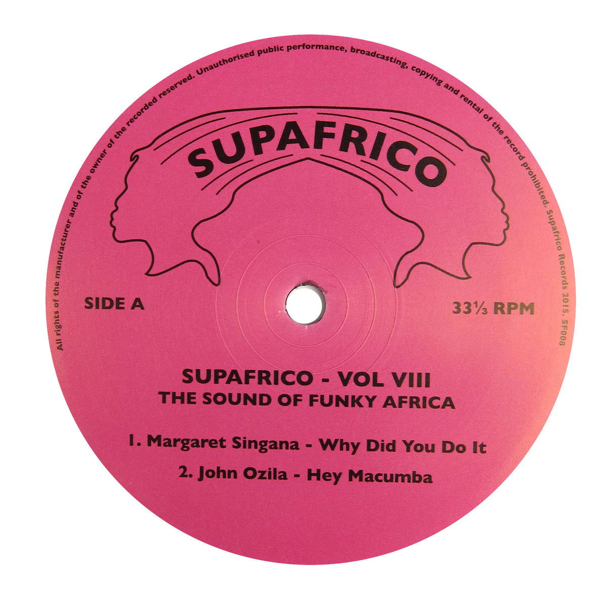 Supafrico: Vol VIII - The Sound Of Funky Africa (John Ozila) Vinyl 12""
