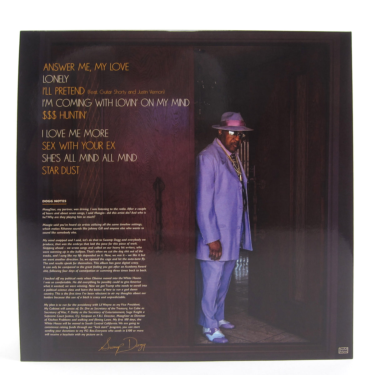 Swamp Dogg: Love, Loss, And Auto-Tune (Indie Exclusive Colored Vinyl) Vinyl LP