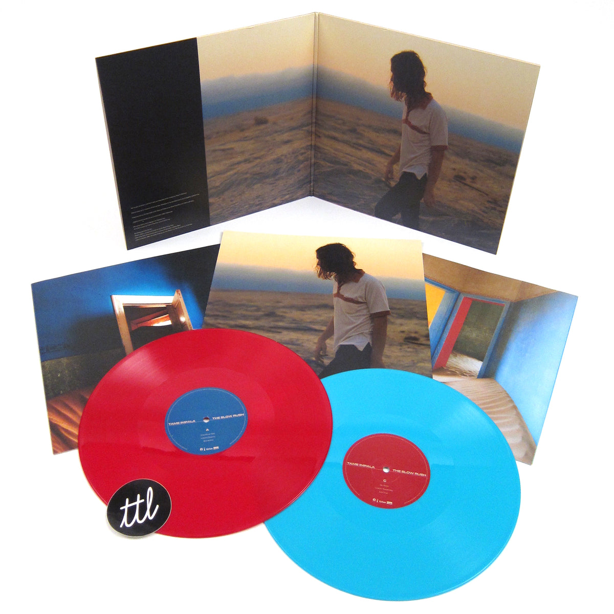 Tame Impala: The Slow Rush (180g, Indie Exclusive Red / Light Blue Colored Vinyl) Vinyl 2LP