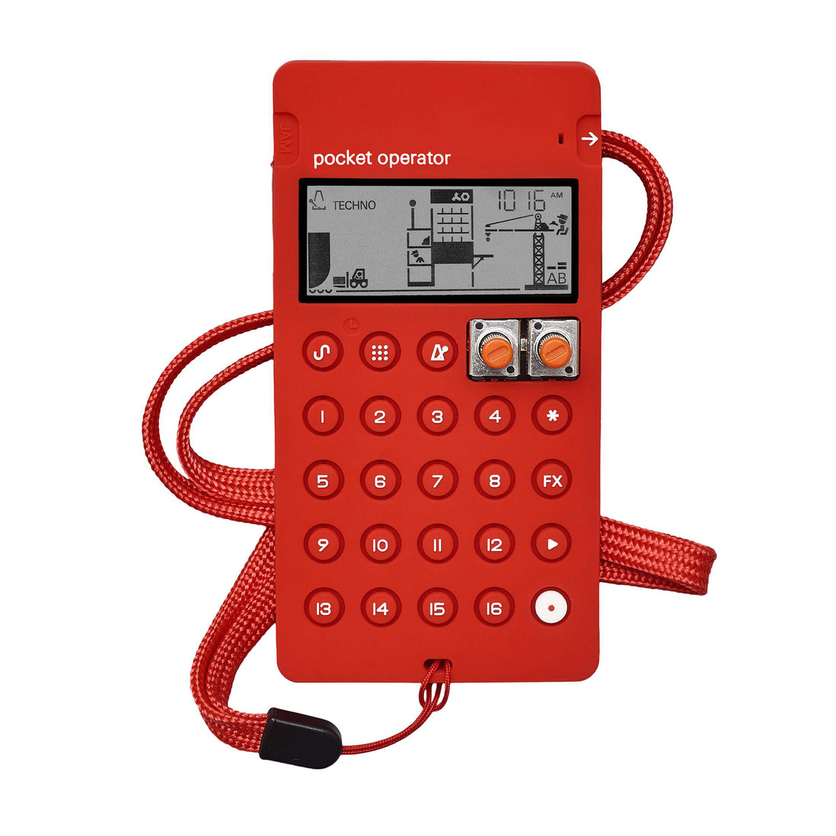 Teenage Engineering: CA-X Silicone Case For Pocket Operators - Red