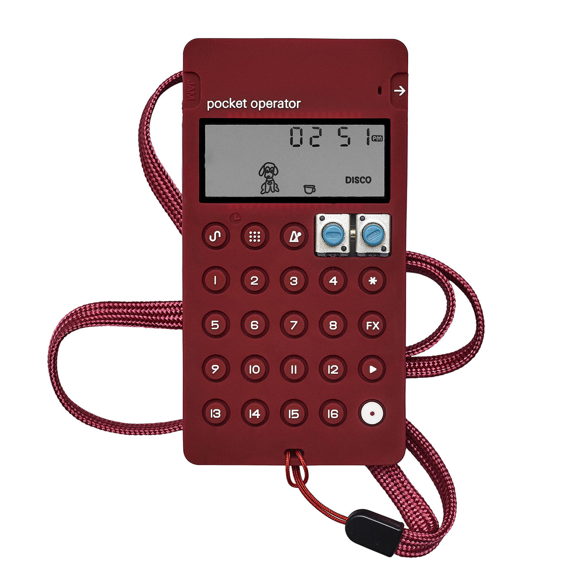 Teenage Engineering: CA-X  Silicone Case For Pocket Operators - Wine Red